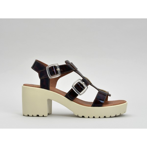 NO NAME TANGO SANDAL - JELLY - BROWN SOLE DOVE