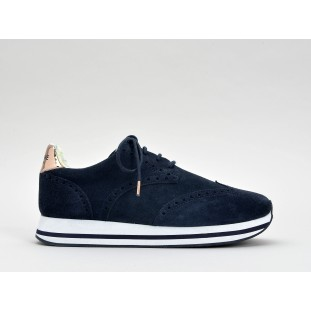TAILOR JOGGER - SUEDE/GLASS - NAVY/CUIVRE