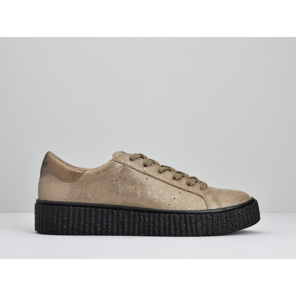 NO NAME PICADILLY SNEAKER - HOT - WOOD SOLE BLACK
