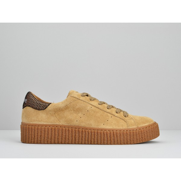 NO NAME PICADILLY SNEAKER - SUEDE - LATTE SOLE MASTIC
