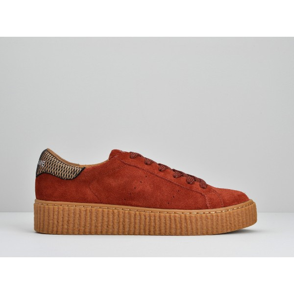 NO NAME PICADILLY SNEAKER - SUEDE - PUMPKIN SOLE MASTIC