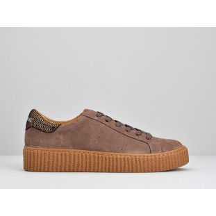 PICADILLY SNEAKER - SUEDE - LILAS SOLE MASTIC