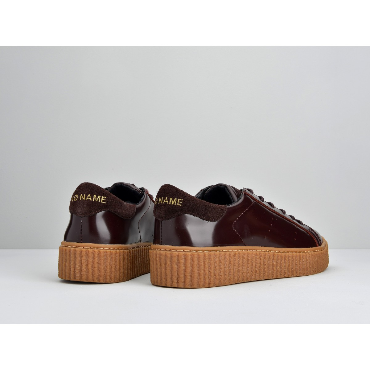 No Name PICADILLY SNEAKER - BOX - BURGUNDY SOLE MASTIC