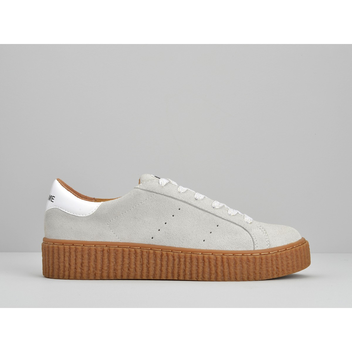 No Name PICADILLY SNEAKER - SUEDE - WHITE SOLE MASTIC