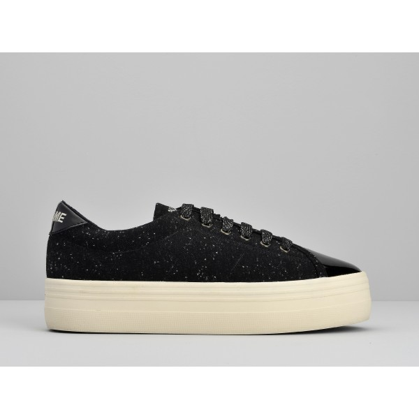 NO NAME PLATO SNEAKER - PATENT/POLAR - BLACK/BLACK
