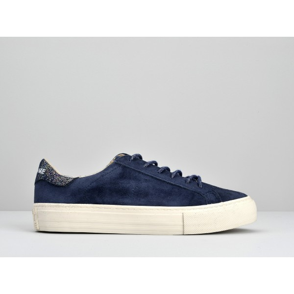 NO NAME ARCADE SNEAKER - GOAT SUEDE - INDIGO FOX DOVE