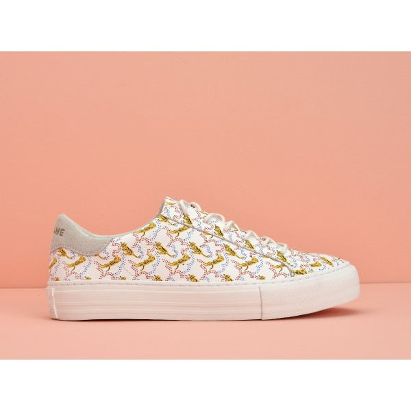 NO NAME Arcade Sneaker - Nappa Print Tiger - White