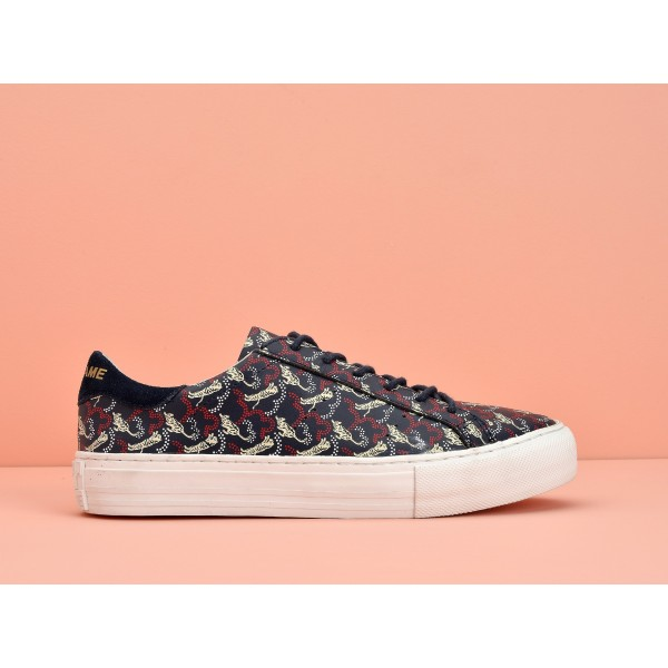NO NAME Arcade Sneaker - Nappa Print Tiger - Navy