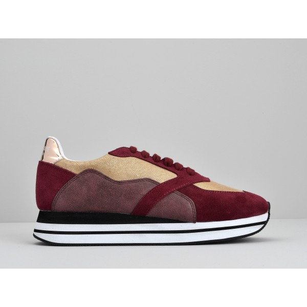 NO NAME EDEN STREET - HOT/SUEDE - NACRE/BORDEAUX