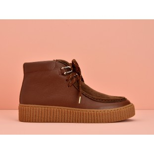 PICADILLY MID PINK - NAPPA/GOATSUEDE - RUST/GINGER