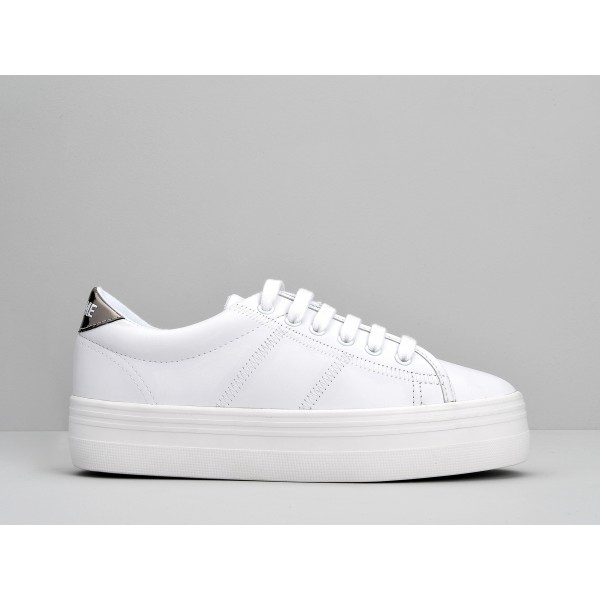 NO NAME PLATO SNEAKER - NAPPA/MIRROR - WHITE/ANTIK