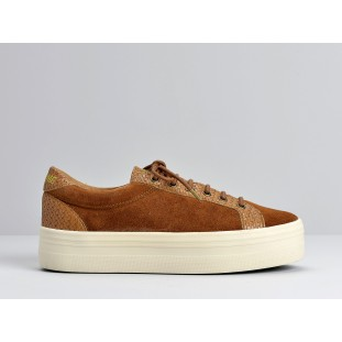 Plato Bridge - Suede / Braid - Cognac