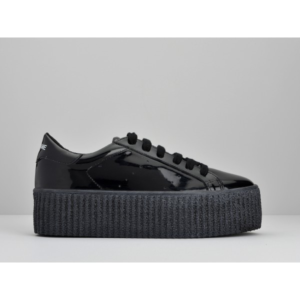 NO NAME WILD SNEAKER - PATENT - BLACK SOLE BLACK