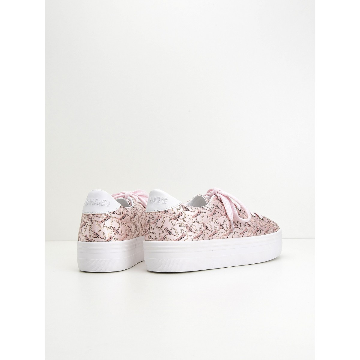 No Name Plato Sneaker - Print Tiger - Light Pink