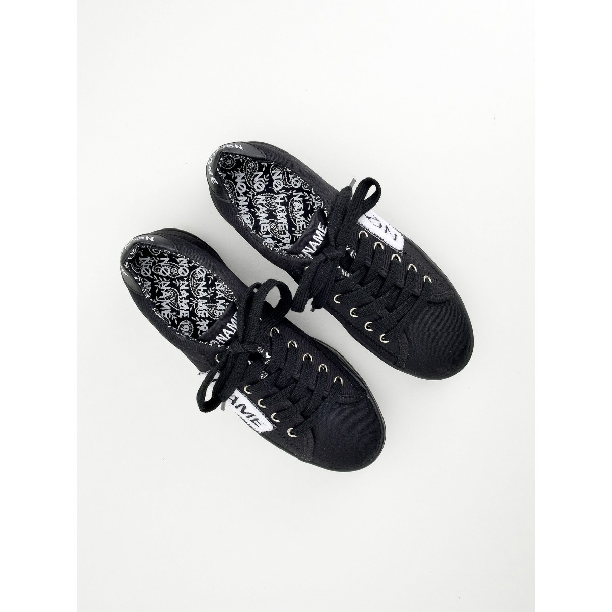 No Name Plato Sneaker - Twill/Patch - Black