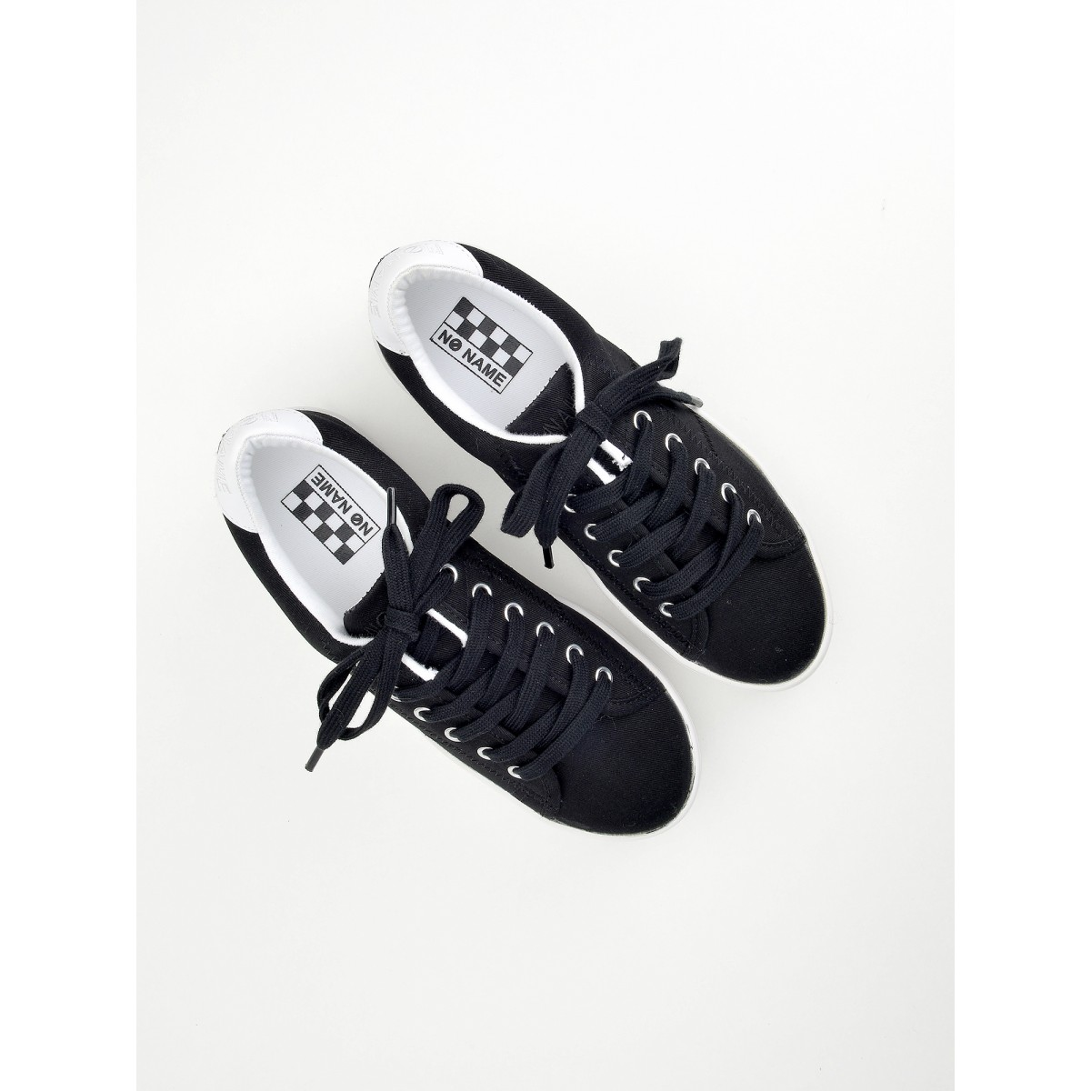 No Name Plato Sneaker - Canvas - Black Fox White
