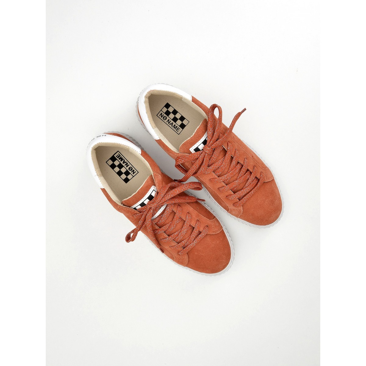 No Name Picadilly Sneaker - Suede - Litchi