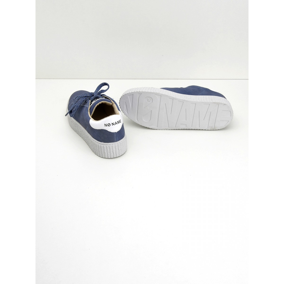 No Name Picadilly Sneaker - Suede - Denim