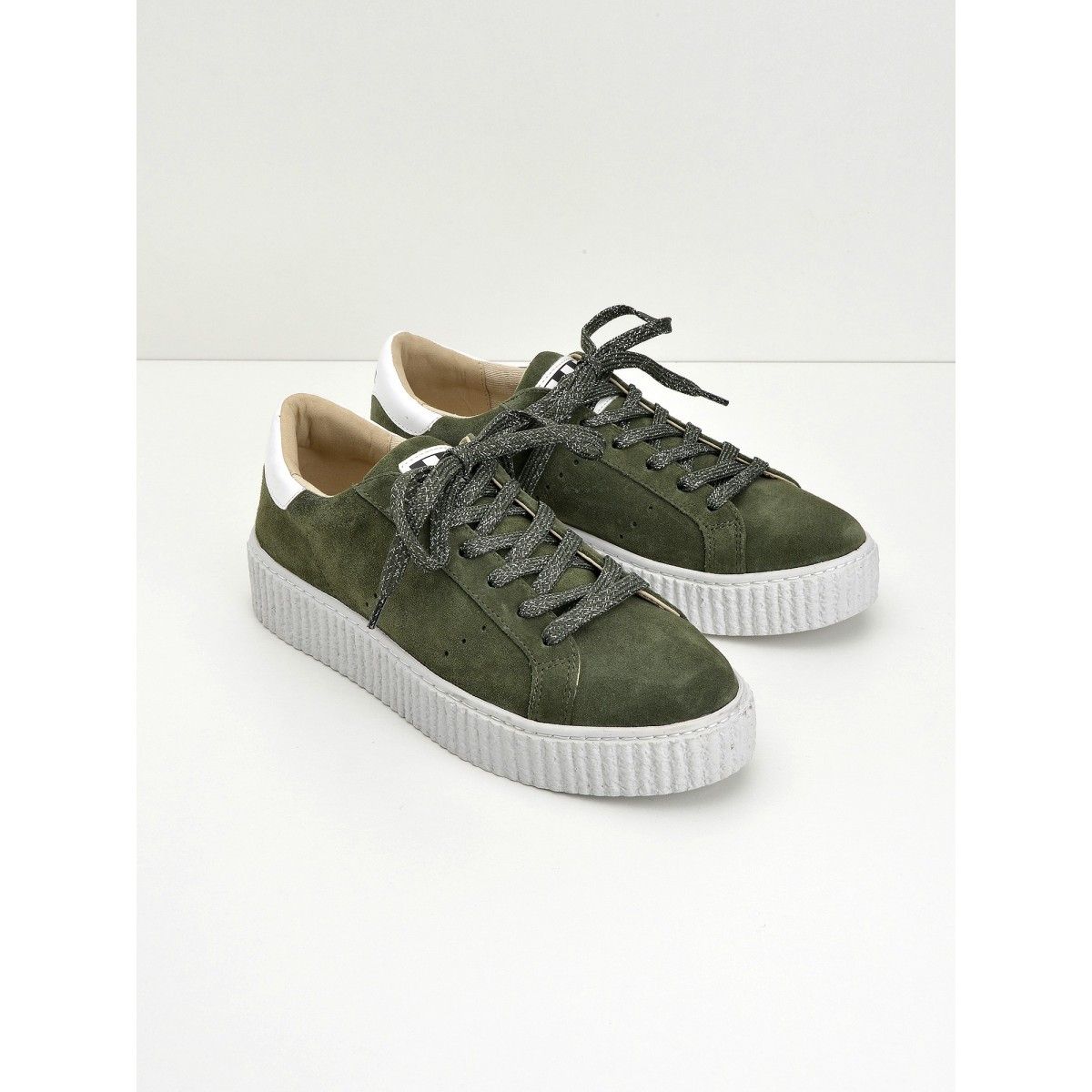No Name Picadilly Sneaker - Suede - Tilleul