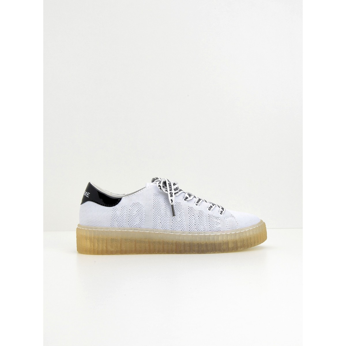 No Name Picadilly Soft - Flex/Patent - White/Black