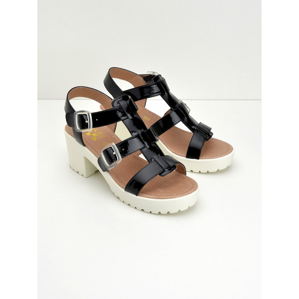 No Name Tango Sandal - Crackle - Black